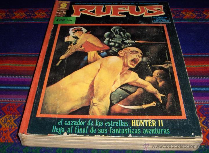 RETAPADO RUFUS NºS 40, 35, 36, 32, 52, 33 Y 56. GARBO 1976. 400 PTS. TAPAS DURAS. REGALO Nº 38. (Tebeos y Comics - Garbo)