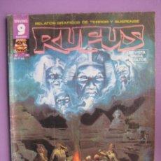 Cómics: RUFUS Nº 44, ALFREDO ALCALA,E R CRUZ, RAMON TORRENTS, ETC.... Lote 40620265