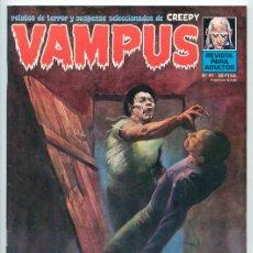 Cómics: VAMPUS - RELATOS DE TERROR Y SUSPENSE - Nº 41 - GARBO ED. - ENERO 1975 (SITGES 1974). Lote 54550911