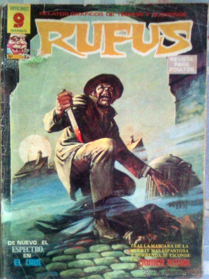 RUFUS- RELATOS GRÁFICOS DE TERROR Y SUSPENSE- Nº 26 -1975-DIFÍCIL-FERNANDO FERNÁNDEZ-BUENO-LEAN-2350 (Tebeos y Comics - Garbo)