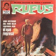 Cómics: RUFUS Nº 9 EDI. IBERO MUNDIAL 1973 - NEAL ADAMS,DAN ADKINS,RICHARD CORBEN, JOSE BEA, RAMON TORRENTS. Lote 44852422