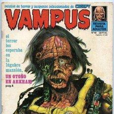 Cómics: VAMPUS - RELATOS DE TERROR Y SUSPENSE - Nº 40 - GARBO ED. - DICIEMBRE 1974 (WILLIS O'BRIEN). Lote 45518669