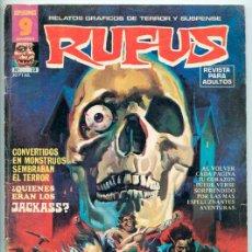 Cómics: RUFUS - RELATOS GRÁFICOS DE TERROR Y SUSPENSE - Nº 23 - GARBO ED. - ABRIL 1975. Lote 46475399