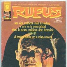 Cómics: RUFUS - RELATOS GRÁFICOS DE TERROR Y SUSPENSE - Nº 32 - GARBO ED. - ENERO 1976. Lote 46475415