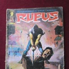 Cómics: RUFUS Nº 27. EDITORIAL GARBO. RELATOS DE TERROR Y SUSPENSE. 1975. Lote 47393542