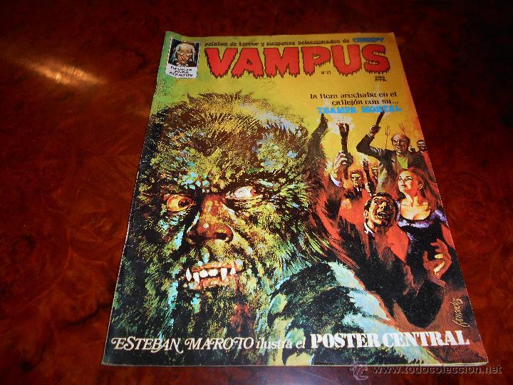 VAMPUS Nº 21 CON EL POSTER CENTRAL B.E. (Tebeos y Comics - Garbo)