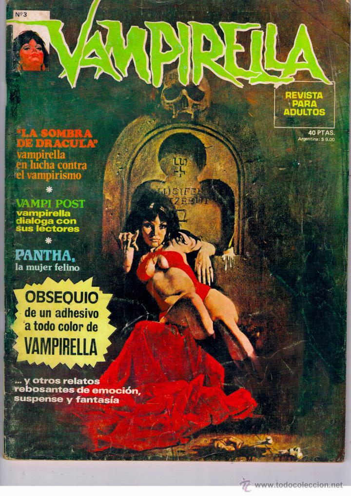 VAMPIRELLA Nº 3. TAPA BLANDA. EDIT. GARBO. 1973. MUY BUEN ESTADO. PEPE FERNANDEZ. COMPLETO (Tebeos y Comics - Garbo)