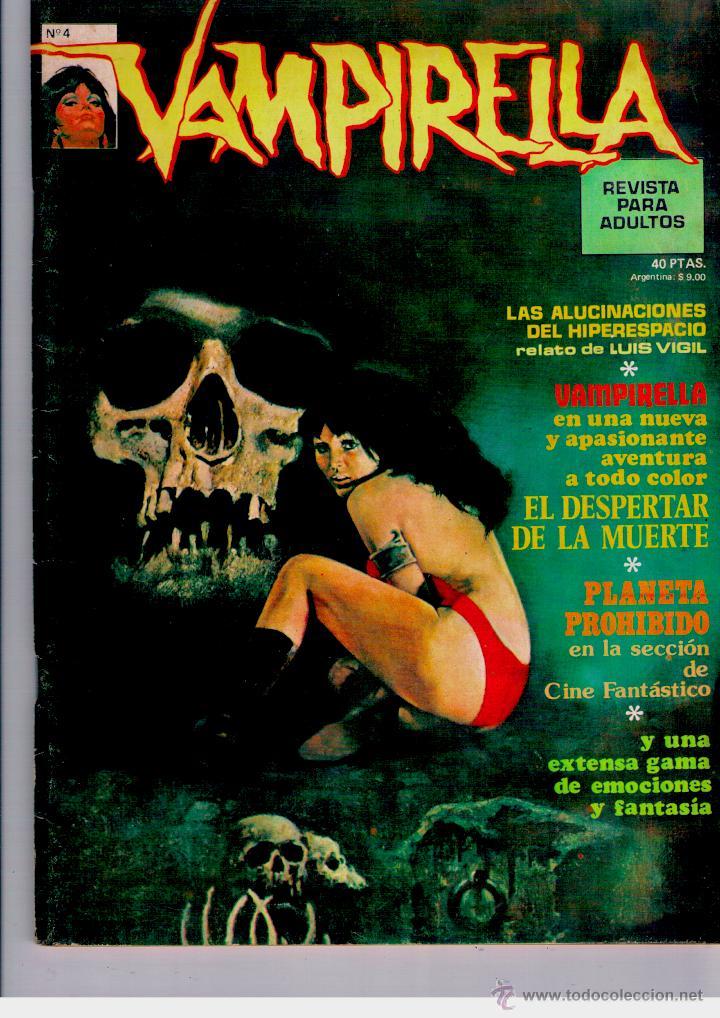 VAMPIRELLA Nº 4. TAPA BLANDA. EDIT. GARBO. 1973. MUY BUEN ESTADO. PEPE FERNANDEZ. COMPLETO (Tebeos y Comics - Garbo)