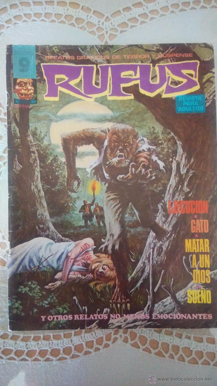 RUFUS Nº 29: EJECUCION - GATO - MATAR A UN DIOS SUEÑO - WALLY WOOD, LEPOLDO SANCHEZ (GARBO 1975) (Tebeos y Comics - Garbo)