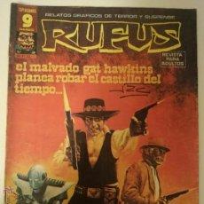 Cómics: RUFUS - Nº 49 EL MALVADO GAT HAWKINS PLANEA ROBAR EL CASTILLO DEL TIEMPO - RELATOS GRAFICOS DE TERRO. Lote 104267644