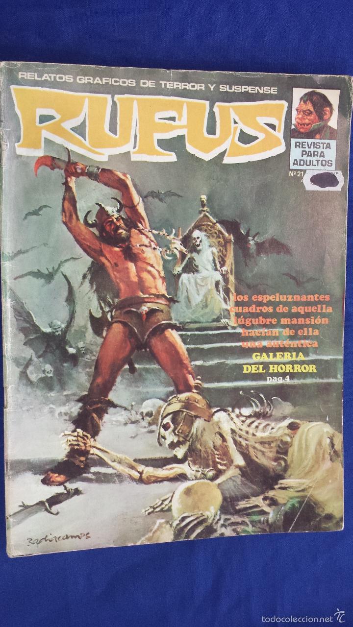 RUFUS Nº 21 - RELATOS GRÁFICOS DE TERROR Y SUSPENSE - GARBO (Tebeos y Comics - Garbo)