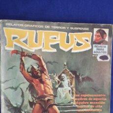 Cómics: RUFUS Nº 21 - RELATOS GRÁFICOS DE TERROR Y SUSPENSE - GARBO. Lote 56057483