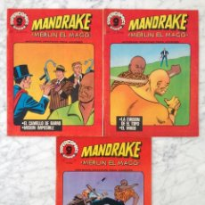 Cómics: SUPERCOMICS - MANDRAKE (MERLIN EL MAGO) - LOTE DE 3 CÓMICS - NºS 2-5-8 - GARBO ED. - 1976. Lote 58549732