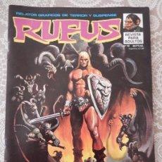 Cómics: RUFUS Nº19 RELATOS GRAFICOS DE TERROR Y SUSPENSE. Lote 58561777