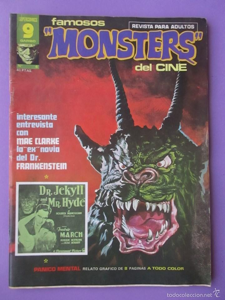 FAMOSOS MONSTERS DEL CINE Nº 6 ¡¡ BUEN ESTADO !!!, GARBO RICHARD CORBEN (Tebeos y Comics - Garbo)