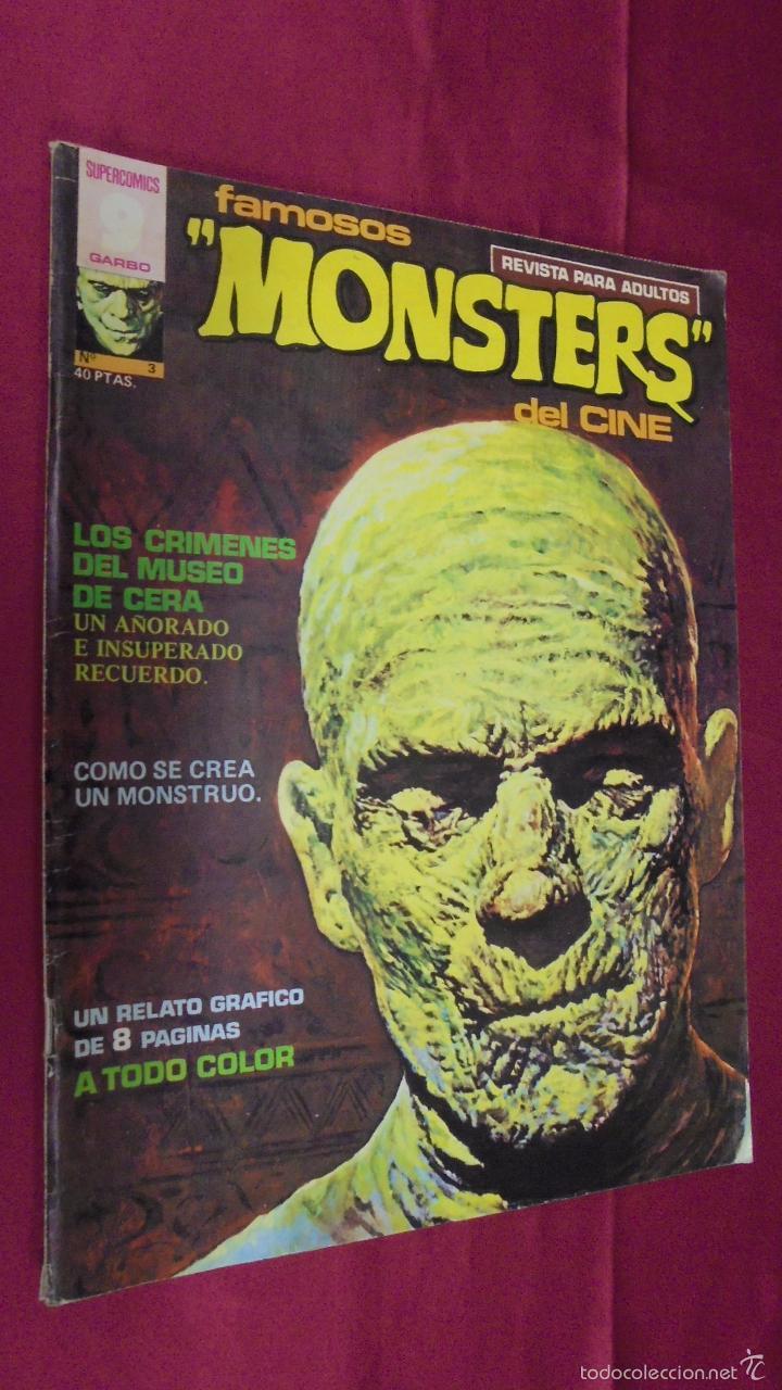 FAMOSOS MONSTERS DEL CINE. Nº 3. GARBO. 1975. (Tebeos y Comics - Garbo)