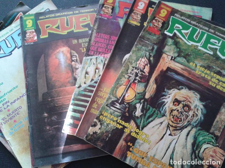RUFUS ** LOTE DE 6 EJEMPLARES ** NÚMEROS 27- 30- 45- 47- 50- 55 ** GARBO 1973 (Tebeos y Comics - Garbo)