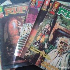Cómics: RUFUS ** LOTE DE 6 EJEMPLARES ** NÚMEROS 27- 30- 45- 47- 50- 55 ** GARBO 1973. Lote 64677459
