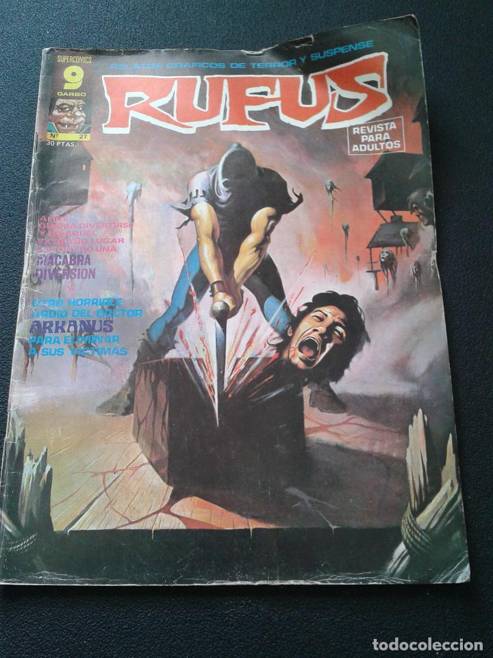 Cómics: RUFUS ** LOTE DE 6 EJEMPLARES ** NÚMEROS 27- 30- 45- 47- 50- 55 ** GARBO 1973 - Foto 2 - 64677459