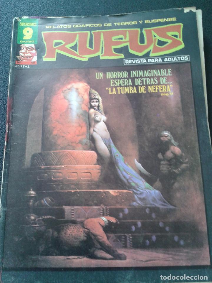 Cómics: RUFUS ** LOTE DE 6 EJEMPLARES ** NÚMEROS 27- 30- 45- 47- 50- 55 ** GARBO 1973 - Foto 4 - 64677459