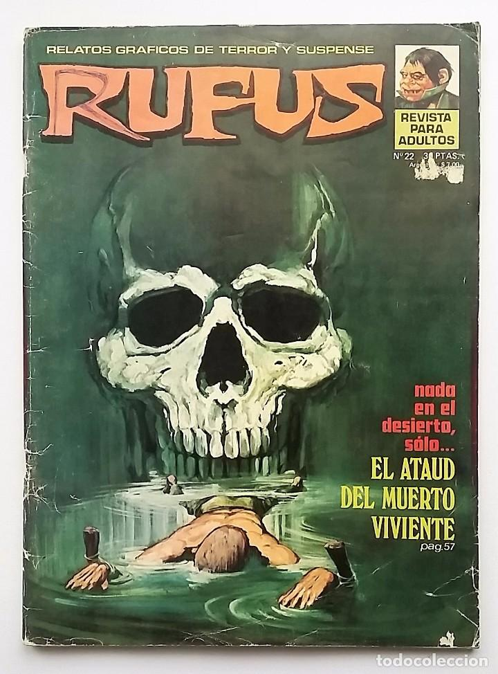 RUFUS NÚMERO 22. RELATOS GRÁFICOS DE TERROR Y SUSPENSE. EDITORIAL GARBO. (Tebeos y Comics - Garbo)