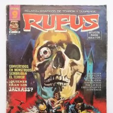 Cómics: RUFUS NÚMERO 23. RELATOS GRÁFICOS DE TERROR Y SUSPENSE. EDITORIAL GARBO.. Lote 77891117