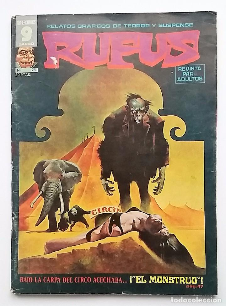 RUFUS NÚMERO 24. RELATOS GRÁFICOS DE TERROR Y SUSPENSE. EDITORIAL GARBO. (Tebeos y Comics - Garbo)