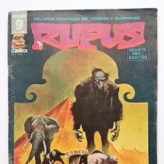 Cómics: RUFUS NÚMERO 24. RELATOS GRÁFICOS DE TERROR Y SUSPENSE. EDITORIAL GARBO.. Lote 77891181