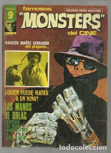 FAMOSOS MONSTERS DEL CINE 15, 1976, BUEN ESTADO. (Tebeos y Comics - Garbo)