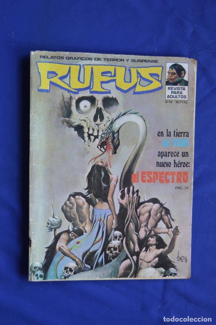 RUFUS Nº 14 ** GARBO ** RELATOS GRAFICOS DE TERROR Y SUSPENSE (Tebeos y Comics - Garbo)