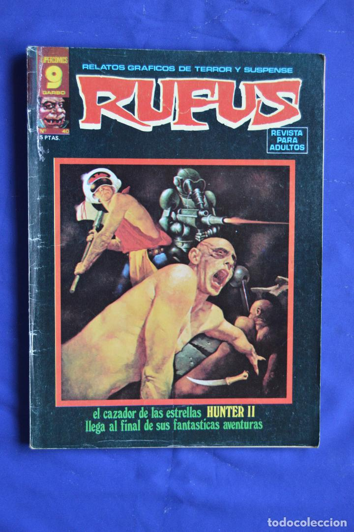 RUFUS Nº 40 ** GARBO ** RELATOS GRAFICOS DE TERROR Y SUSPENSE (Tebeos y Comics - Garbo)