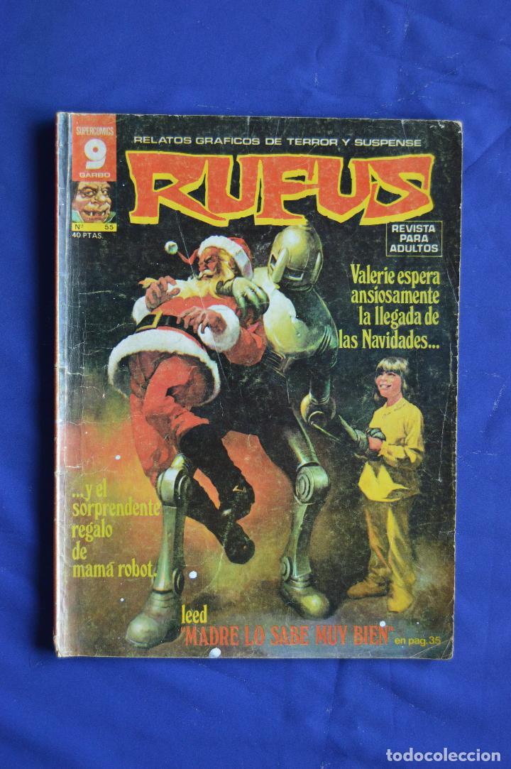 RUFUS Nº 55 ** GARBO ** RELATOS GRAFICOS DE TERROR Y SUSPENSE (Tebeos y Comics - Garbo)
