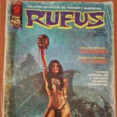 Cómics: RUFUS Nº 28. RELATOS GRAFICOS DE TERROR Y SUSPENSE. Lote 89289536