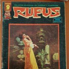 Cómics: RUFUS Nº 33. RELATOS GRAFICOS DE TERROR Y SUSPENSE. Lote 89290140