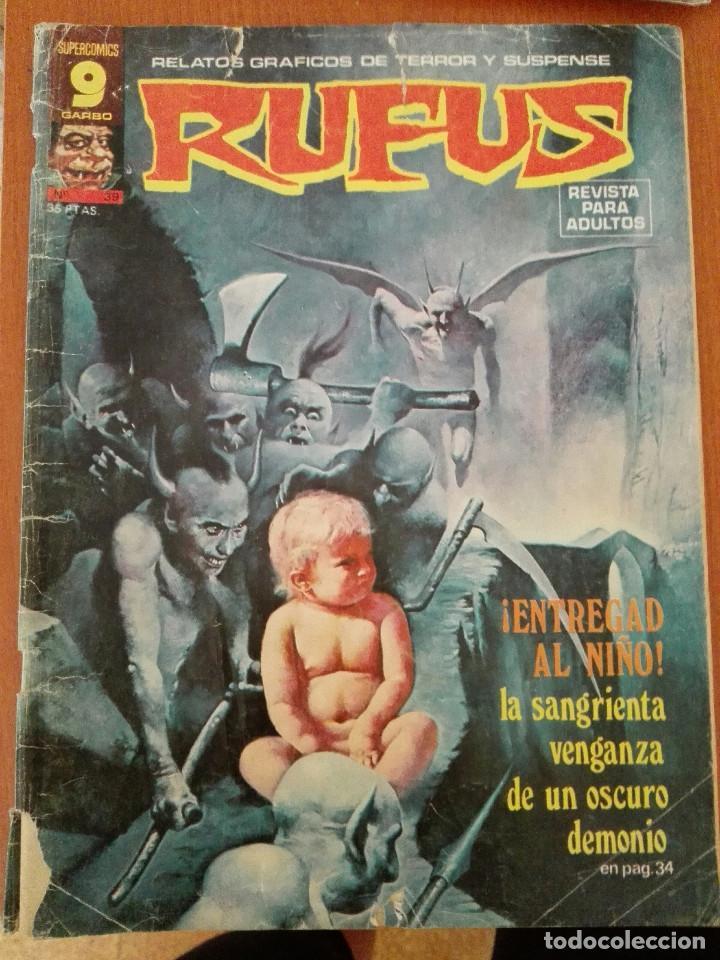 RUFUS Nº 39. RELATOS GRAFICOS DE TERROR Y SUSPENSE (Tebeos y Comics - Garbo)