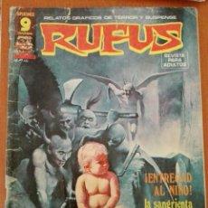 Cómics: RUFUS Nº 39. RELATOS GRAFICOS DE TERROR Y SUSPENSE. Lote 89290304