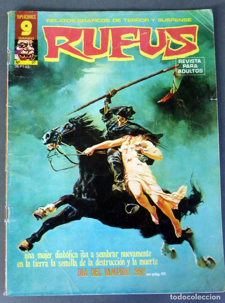 RUFUS Nº 37 RELATOS TERROR Y SUSPENSE GARBO EDICIONES 1976 (Tebeos y Comics - Garbo)