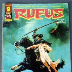Cómics: RUFUS Nº 37 RELATOS TERROR Y SUSPENSE GARBO EDICIONES 1976. Lote 91085350