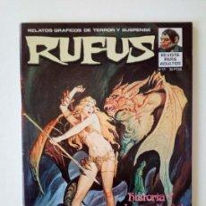 Cómics: RUFUS # 11 EXCELENTE. COMO NUEVO. Lote 99335767