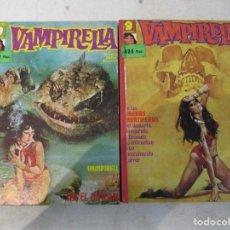 Cómics: VAMPIRELLA DOS TOMOS ENCUADERNACION DE EDITORIAL14 EJEMPLARES PEPE GONZALEZ GARBO. Lote 102713511
