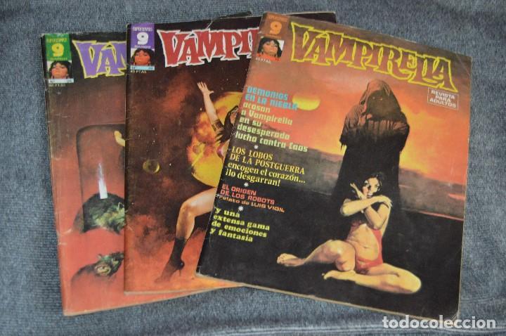 LOTE 3 TEBEO / COMIC - VAMPIRELLA 10, 25 Y 29 - REVISA PARA ADULTOS - AÑOS 70 - VINTAGE - HAZ OFERTA (Tebeos y Comics - Garbo)