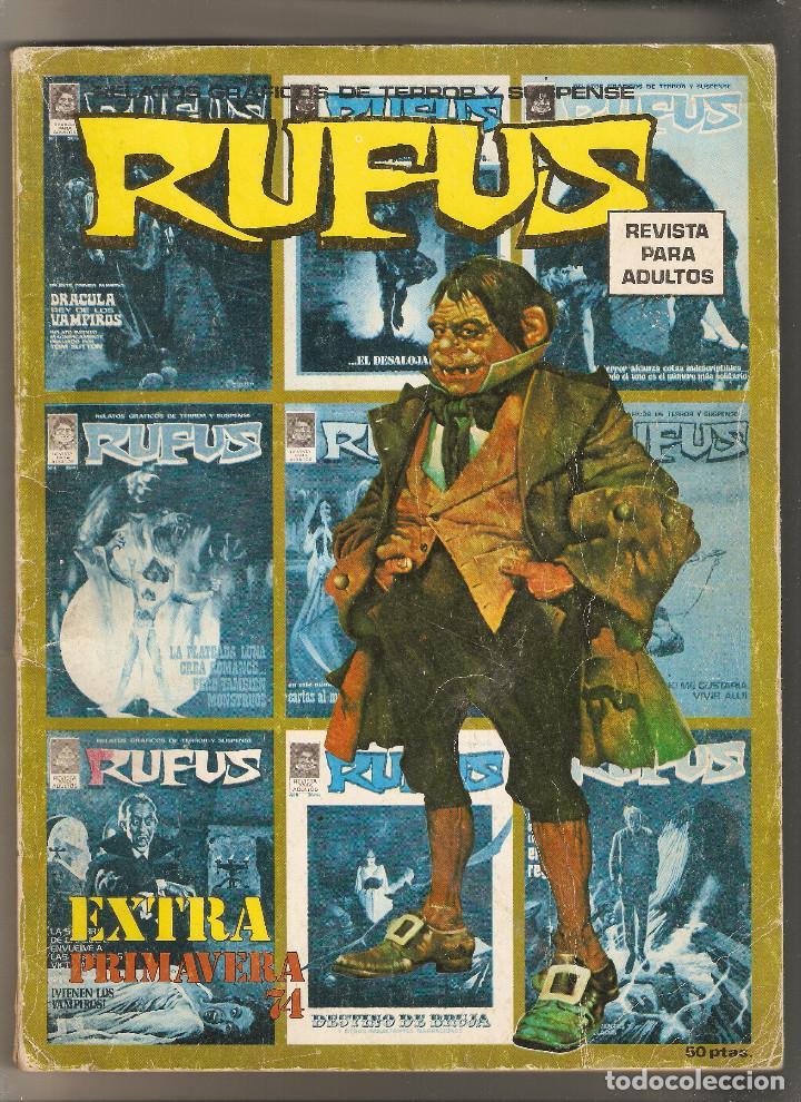 RUFUS - EXTRA PRIMAVERA 74 - RELATOS GRAFICOS DE TERROR Y SUSPENSE - GARBO- (Tebeos y Comics - Garbo)