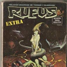 Cómics: RUFUS - EXTRA CIENCIA FICCION - RELATOS GRAFICOS DE TERROR Y SUSPENSE - GARBO -. Lote 123130855