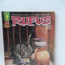 Cómics: RUFUS RELATOS GRAFICOS DE TERROR Y SUSPENSE Nº 43.. Lote 127781811