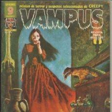 Cómics: VAMPUS Nº 45. MAYO 1975. JOSÉ ORTÍZ, LOS ZOMBIS EN EL CINE DE TERROR, BLAZQUEZ. SIN POSTER. Lote 133269438