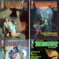 Cómics: VAMPUS - 3 TOMOS - NUMS. 69, 60 Y 61 MAS 1 NUM. DE FAMOSOS MONSTERS. Lote 133476514