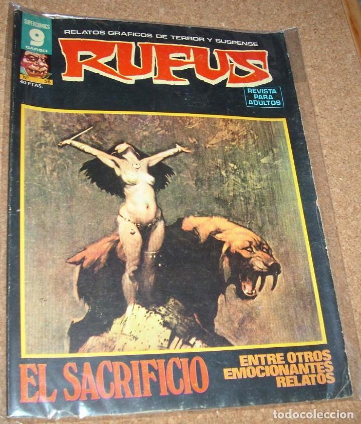 RUFUS Nº 56 Y ULTIMO EN BUEN ESTADO VER FOTO Y LEER TODO ES IMPORTANTE (Tebeos y Comics - Garbo)