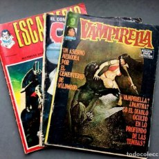 Cómics: LOTE DE 3 NÚMEROS,VAMPIRELLA,ESCALOFRIO Y CREEPY. Lote 142417678