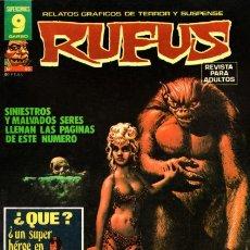 Cómics: RUFUS-RELATOS GRÁFICOS DE TERROR Y SUSPENSE- Nº 52 -1977-LEO SÁNCHEZ-CORBEN-BUENO-DIFÍCIL-9979. Lote 146945704