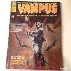 Cómics: VAMPUS LOTE 10 EJEMPLARES INCLUYE Nº 1, 2,3 . Lote 148686674